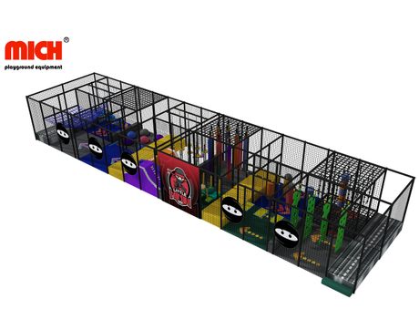 Kids Indoor Ninja Course/ Warrior Playground Equipment